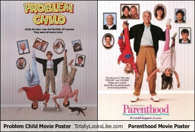 funny,Movie,parenthood,poster,problem child,TLL