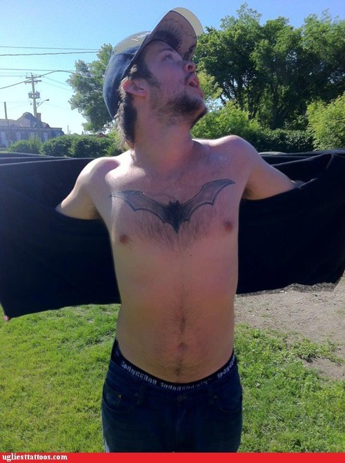 batman,chest tattoos