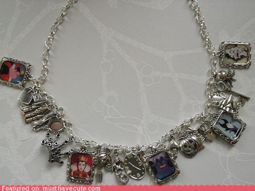 Charms,disney,evil,necklace,queens