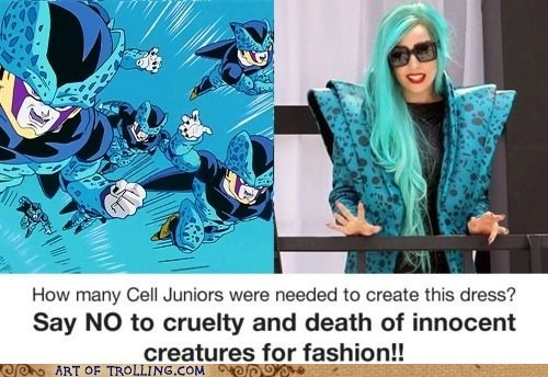 Dragon Ball Z,fashion,lady gaga,Memes,peta