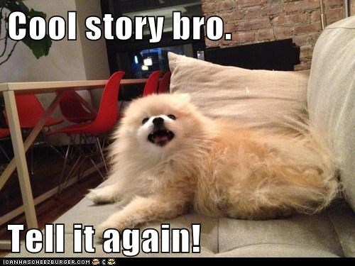 Cool story bro.  Tell it again!