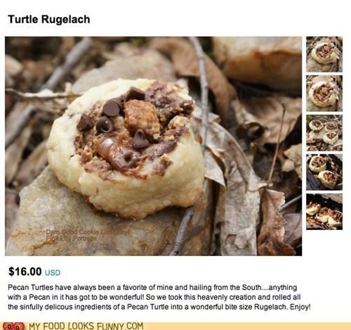 cookies,found,gross,Regretsy,rock,woods