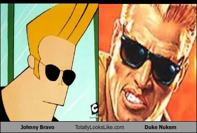 Johnny Bravo Totally Looks Like Duke Nukem