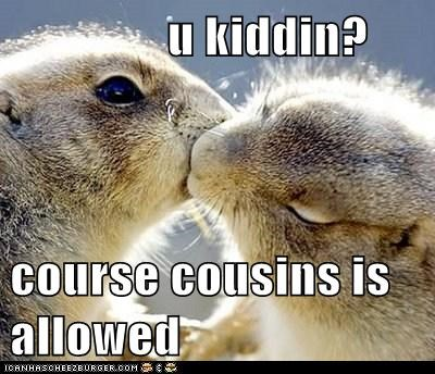 u kiddin?  course cousins is allowed