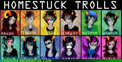 The Homestuck trolls
