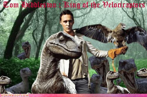 actor,celeb,funny,Hall of Fame,meme,shoop,tom hiddleston,velociraptom