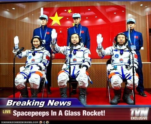 Breaking News - Spacepeeps In A Glass Rocket!