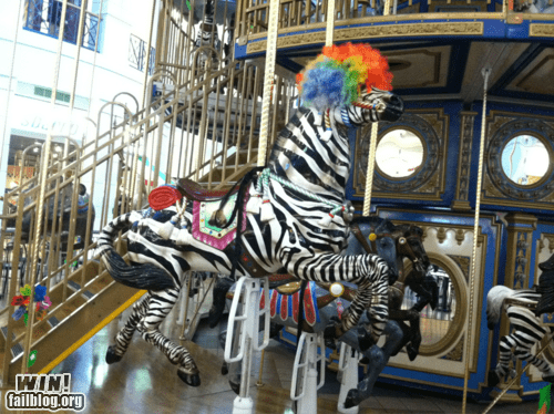 afro circus,carousel,g rated,hacked irl,win,zebra