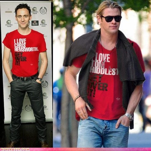 chris hemsworth,funny celebrity pictures,if style could kill,loki,Thor,tom hiddleston