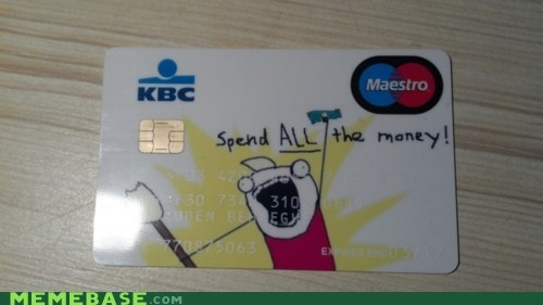 all the things,credit card,IRL,money