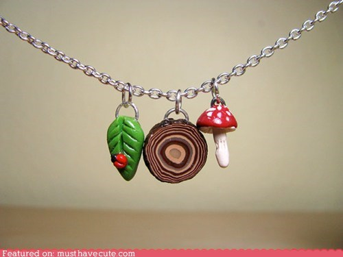 chain,Charms,leaf,mushroom,wood,woods