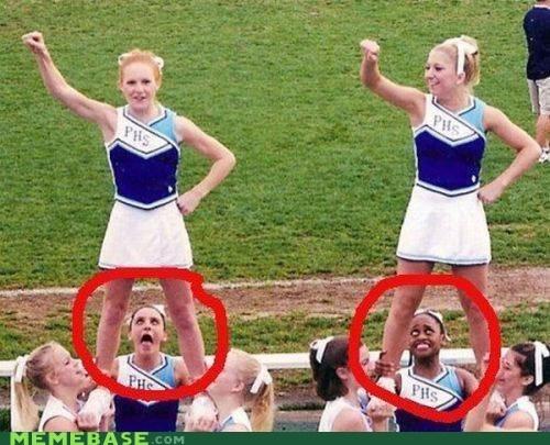 cheerleaders,gross,IRL,skirt,up
