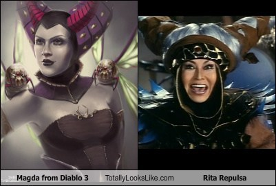 Magda from Diablo 3 Totally Looks Like Rita Repulsa