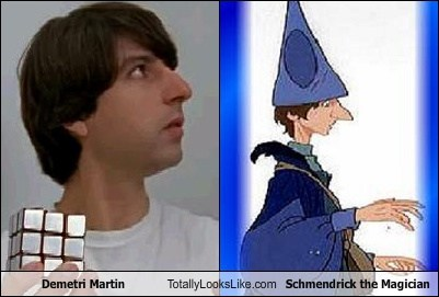 Demetri Martin Totally Looks Like Schmendrick the Magician