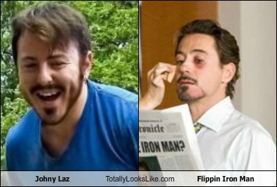 Johny Laz Totally Looks Like Flippin Iron Man