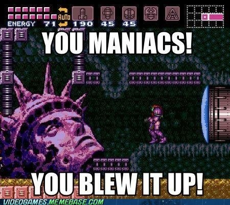 crossover,maniacs,Metroid,Planet of the Apes