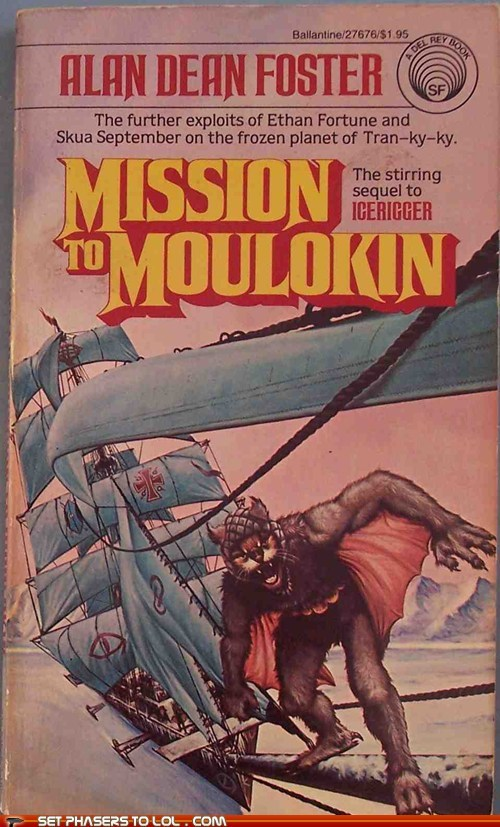 WTF Sci-Fi Book Covers: Mission to Moulokin