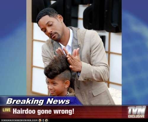 Breaking News - Hairdoo gone wrong!