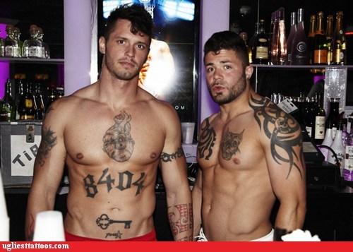key,muscle hunks,tribal tattoos