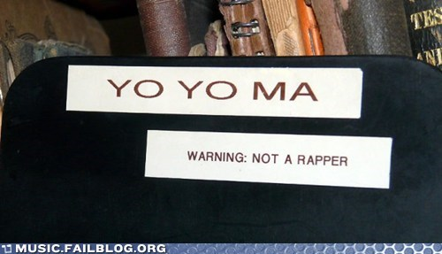 "Then Why Is His Name ""Yo Yo?"""