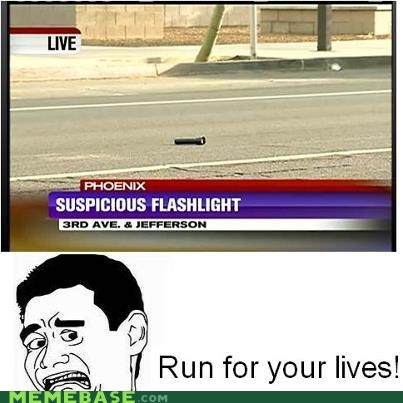 flashlight,news,Rage Comics,run,suspicious