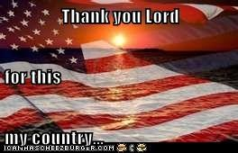 Thank you Lord for this my country...