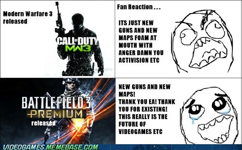 Battlefield 3,expansion,modern warfare,premium service,rage comic,yearly payments