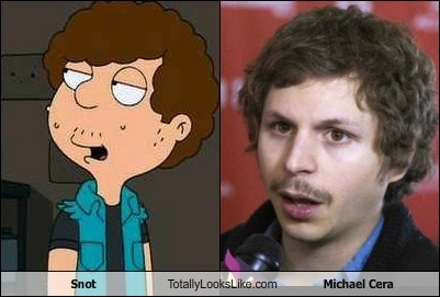 actor,american dad,animation,funny,Hall of Fame,michael cera,snot,TLL,TV