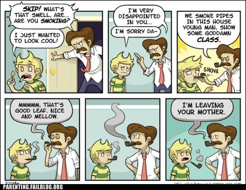 comic,fatherson,pipes,smoking