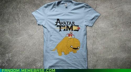 adventure time,Avatar the Last Airbender,avatar-the-last-airbende,cartoons,crossover,FanArt,shirt
