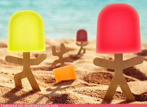 Lollipop Men Popsicle Mold