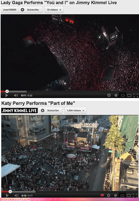 Way to Draw a Crowd, Katy... LOL!