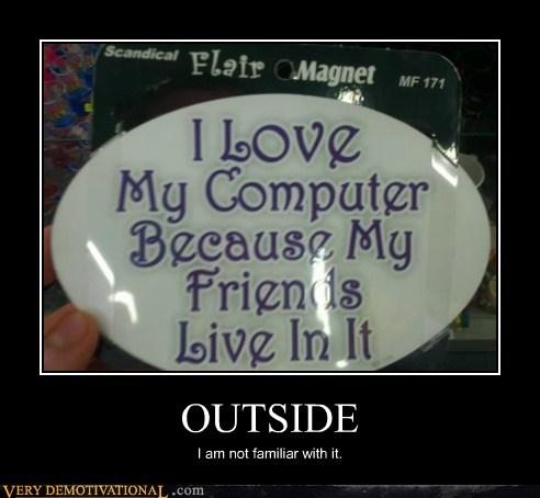 computer,hilarious,outside,Sad