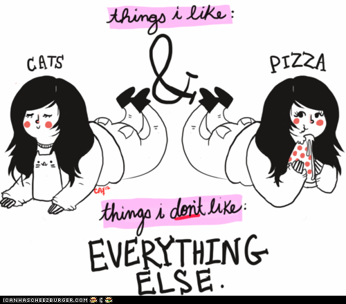 Cats,cute,everything,hate,like,pizza