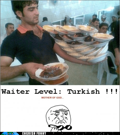 Waiters in Turkey: Winning at Work... Ey.