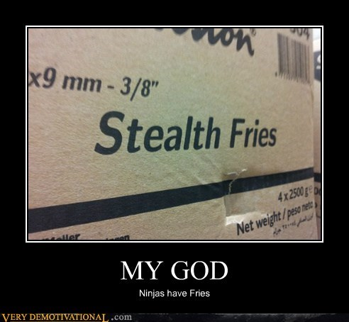 fries,my god,ninjas,Pure Awesome,stealth