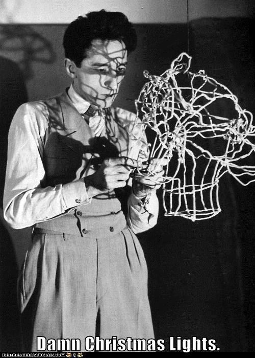 artist,christmas lights,sculpture,tangle