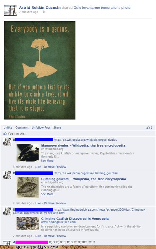 einstein,facebook,fish,quotes
