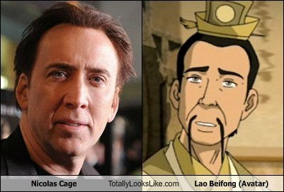 Nicolas Cage Totally Looks Like Lao Beifong (Avatar)