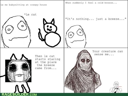 babysitting,cat,creepy,Rage Comics,shadowlurker