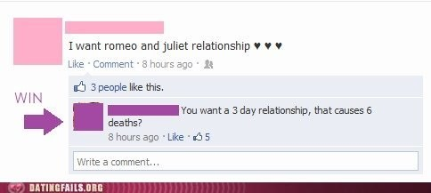 3 day relationship,destructive relationship,romeo and juliet,shakespeare,tragedy