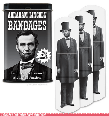 Abe Lincoln,bandages,best of the week,heal,print,wound