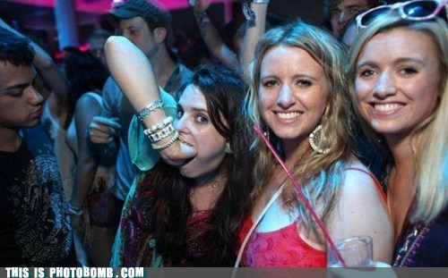 Awkward,girl,hand in mouth,Party,wtf