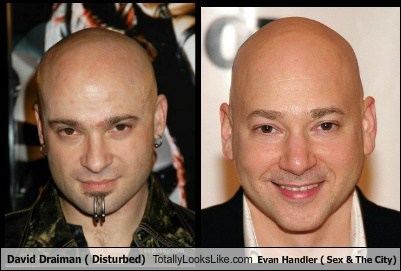 David Draiman ( Disturbed) Totally Looks Like Evan Handler ( Sex & The City)