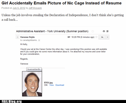 FAIL Nation: Emailing Your Resume FAIL
