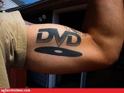 Pssh... A Real Man Man Would Have Blu Ray on His Bicep