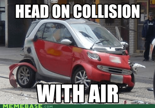 air,car,collision,smart,They Said