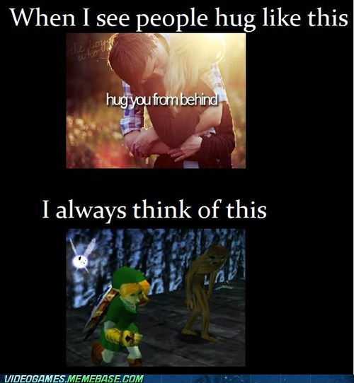 from behind,hugs,redead,scary,zelda