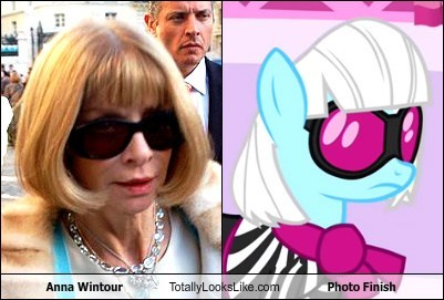 Anna Wintour Totally Looks Like Photo Finish