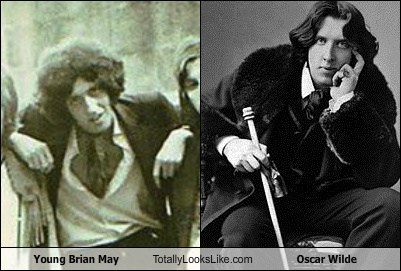 Young Brian May Totally Looks Like Oscar Wilde